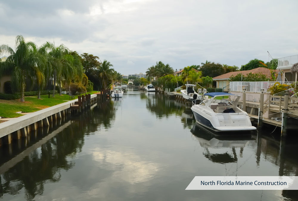 Florida Homes on Intracoastal Waterway - Bulkhead Repair | North Florida Marine Construction